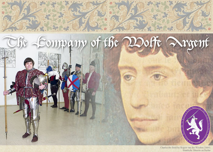 Image montage of charles the bold and the company of the wolfe argent living history group